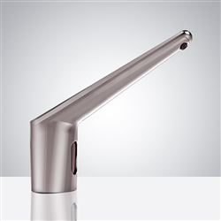 Commercial Automatic Infrared Long Neck Brushed Nickel Sensor Soap Dispenser