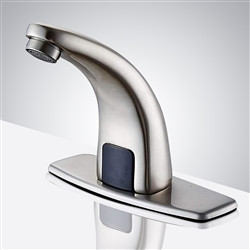 Melo Automatic Commercial Sensor Brushed Nickel Faucet