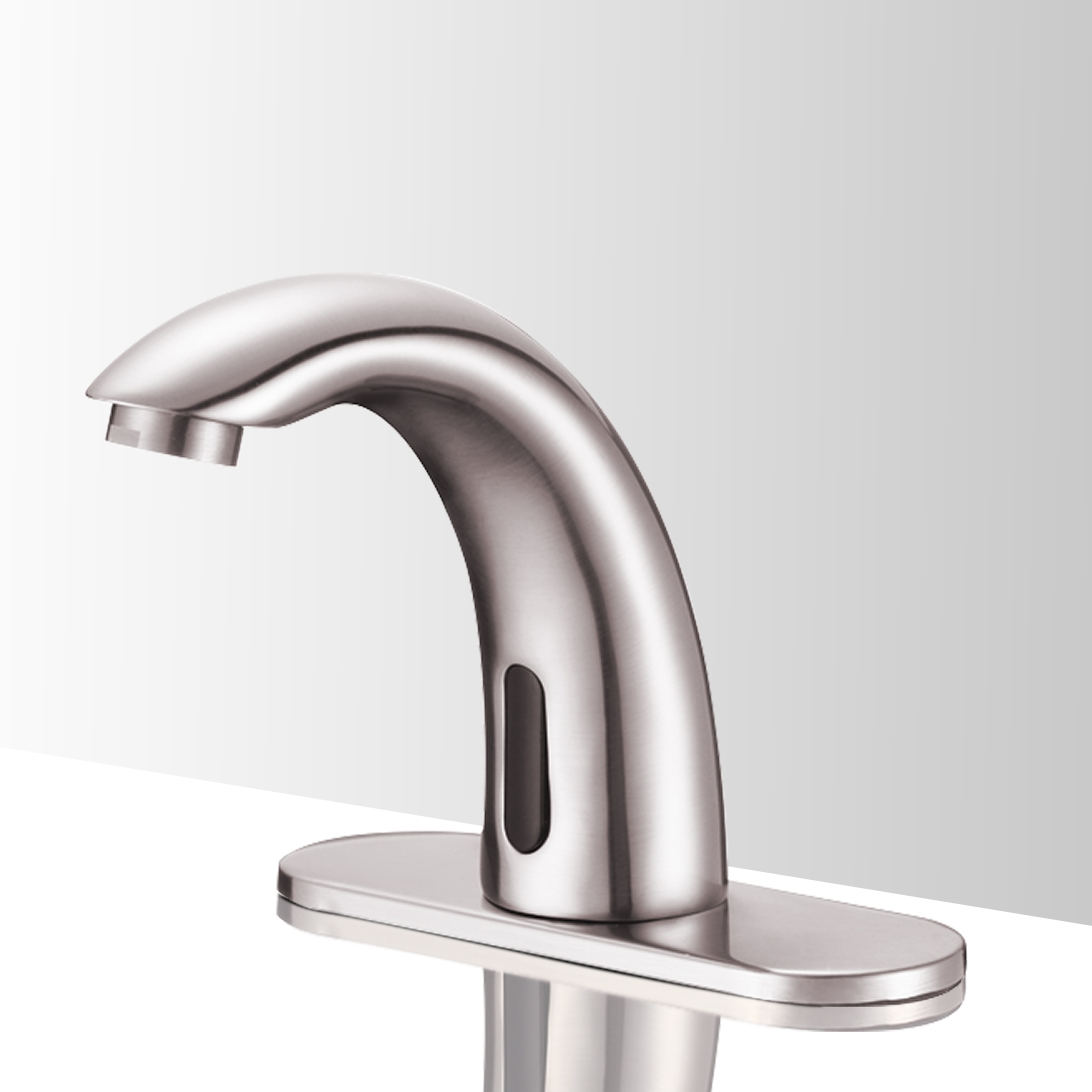 Contemporary Touchless Bathroom Faucets Brushed Nickel Larger Photo Email A Friend