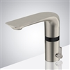 Bathselect Brushed Nickel Rotatable Double Sensor Temperature Control Led Faucet