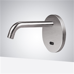 Electrical Sensor Commercial Sink Basin Brushed Nickel Faucet