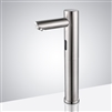 Solo Tall Touchless Brushed Nickel Commercial Automatic Sensor Faucet