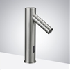 Tripod Commercial Automatic Electronic Hands Free Brushed Nickel Faucet