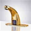 Gold hands free bathroom sink faucets sensor faucets for lavatory