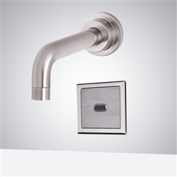 Fontana Commercial Wall Mount Brushed Nickel Automatic Motion Sensor Faucet