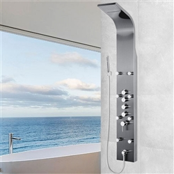 Shower Panel System in Space Gray Brushed Stainless Steel