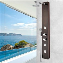 Shower Panel System with Heavy Rain Shower and Spray Wand