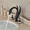 Roman Swan Dark Oil Rubbed Bronze Sink Faucet
