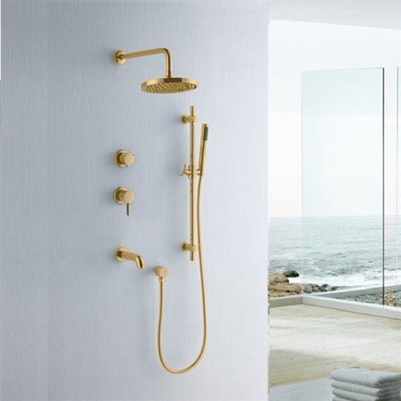 Buy Fabeno Gold Shower Set At Bathselect. Lowest Price Guaranteed