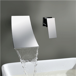JunoShowers® Sink Faucet Contemporary Wall Mounted Waterfall Bathtub Shower Faucet Chrome Shower Mixer Tap