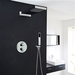 Luna Shower set with Concealed Wall Mount Shower Head Constant Temperature-Solid Brass