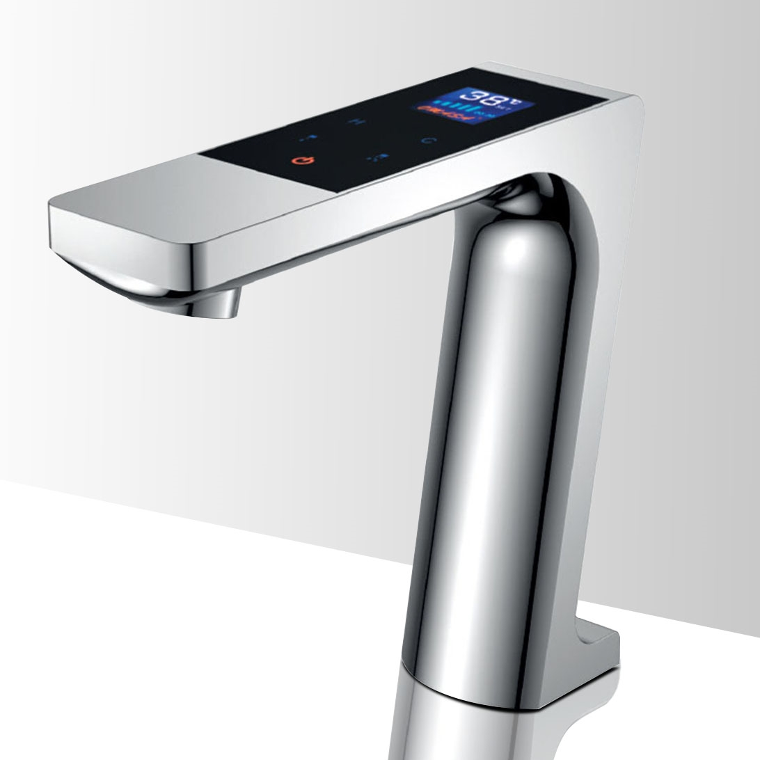 Shop Genoa Digital Touch Sensor Faucet With Automatic Shut Off At ...