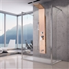 Pulsating Massage Thermostatic Shower Shower Panel in Champagne Gold Finish