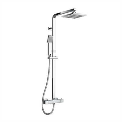 Bathroom Thermostatic Shower Sets. Square Shower Arm Twin Head Set. Thermostatic Chrome Shower Faucet. Brass Thermostatic Mixer