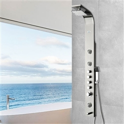 3-Jet Shower Panel System in Brushed Silver