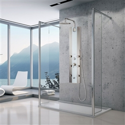 6-Jet Shower System in White Glass