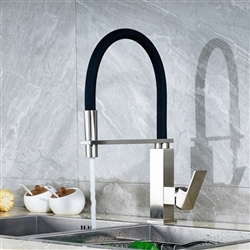 Bari Stainless Steel Kitchen Sink Faucet with Soap Dispenser