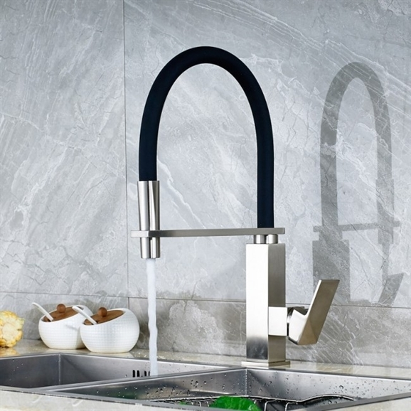 Shop Bari Stainless Steel Kitchen Sink Faucet With Matching Soap
