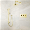 BathSelect Gold Wall Mount Rainfall Shower Set
