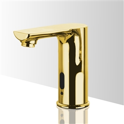 Gold Contemporary touchless bathroom faucets
