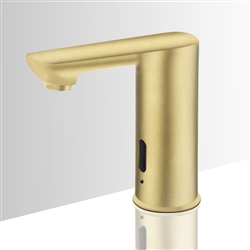 Brushed Gold Contemporary touchless bathroom faucets