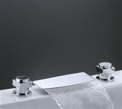 waterfall bath faucet Vience Double Handle Chrome Waterfall Mixer Brass