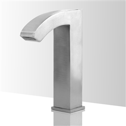 Contemporary touchless bathroom faucets brushed nickel
