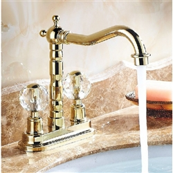 BathSelect Luna Crystal Dual Handle Long Neck Faucet
