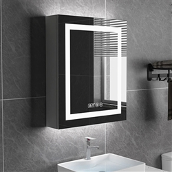 Smart Bathroom Mirror Cabinet In Single Door With Anti Fog ,Clock And Bluetooth Function