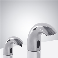 Brio Chrome Finish Dual Commercial Sensor Faucet And Soap Dispenser