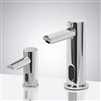 Solo Chrome Finish Freestanding Dual Commercial Sensor Faucet And Soap Dispenser