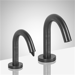 Lenox Goose Neck  Dark Oil Rubbed Bronze Finish Dual Commercial Sensor Faucet And Soap Dispenser