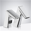 Chrome Finish Automatic Commercial Sensor Faucet And Matching Soap Dispenser
