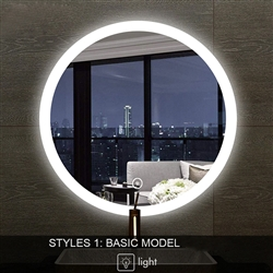 Round LED Multi Function Touch Control Smart Bathroom Mirror