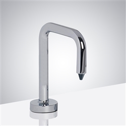 Reno Inverted -U Shaped Chrome Finish Commercial Motion Sensor Soap Dispenser