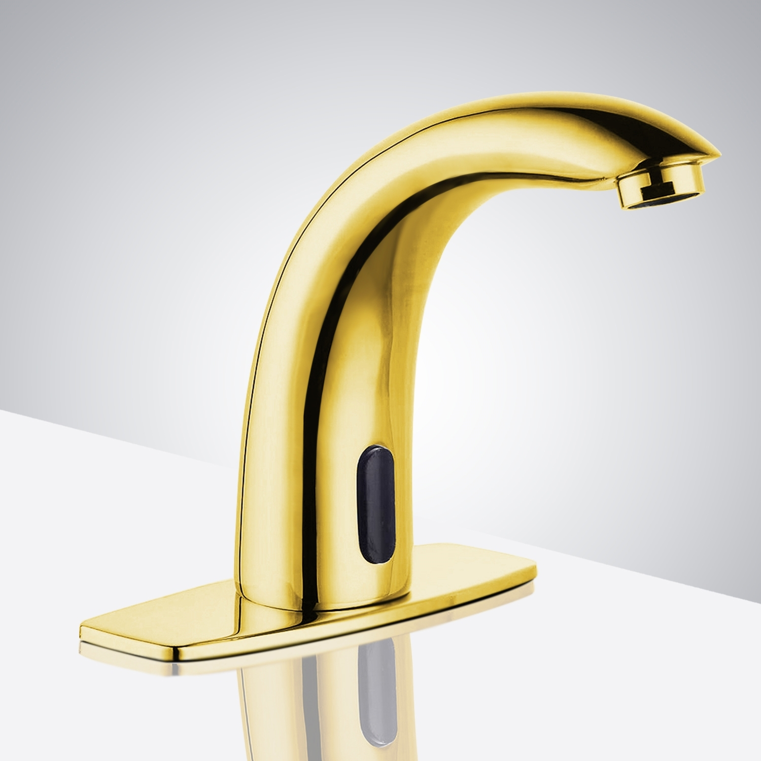Gold Plated Contemporary Touchless Bathroom Faucets. Larger Photo Email A  Friend