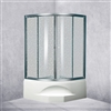 Designer Polished Glass Sector Shape With Aluminium Bath Shower Enclosure