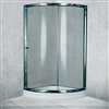 Sector Shape Polished Glass Sliding Door Shower Enclosure