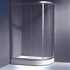 Acrylic Corner Double Door Bath Shower Enclosure