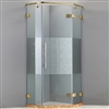 Designer Glass With Gold Finish Hinges Frame-less Adjustable Shower Enclosure