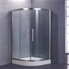 Arc Style Tempered Glass Freestanding Bath Shower Enclosure