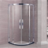 Sliding Door Sector Shape Open Component Shower Enclosure