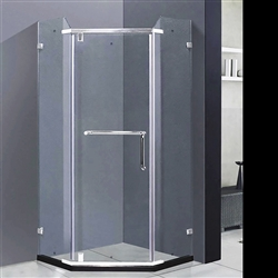 Arc Shape Frame-less Complete Sliding Bath Shower Enclosure With Designer Handle