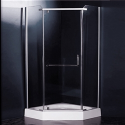 BathSelect Tempered Glass Complete Sliding Bath Shower Enclosure With Designer Handle