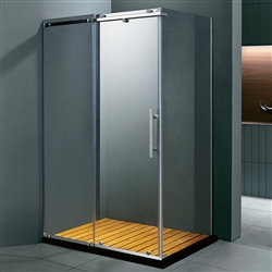 Free Standing Single Door Rectangle Shaped Bath Shower Enclosure