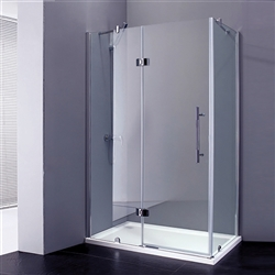 French Corner Sliding Door Bath Shower Enclosure