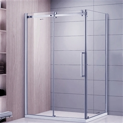 Polished Glass Single Sliding Door Bath Shower Room
