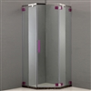 Seam-less Finish Ultra Slim Polished Glass Single Door Bath Shower Room