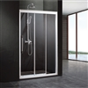 Aluminium Framed 3 Panel Square Shape Sliding Shower Door