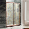 Designer Glass Aluminium Framed Rose Gold Finish Luxury Sliding Shower Door